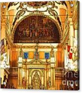 Inside St Louis Cathedral Jackson Square French Quarter New Orleans Digital Art Acrylic Print