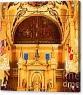 Inside St Louis Cathedral Jackson Square French Quarter New Orleans Film Grain Digital Art Acrylic Print