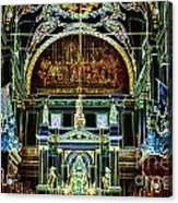Inside St Louis Cathedral Jackson Square French Quarter New Orleans Glowing Edges Digital Art Acrylic Print