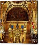 Inside St Louis Cathedral Jackson Square French Quarter New Orleans Poster Edges Digital Art Acrylic Print by Shawn O'Brien