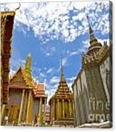 Inside The Grand Palace Bangkok Acrylic Print