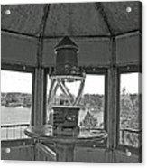 Inside The Lighthouse Tower. Uostadvaris. Lithuania. Acrylic Print
