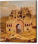 Inside The Main Entrance Of The Purana Qila - Delhi Acrylic Print