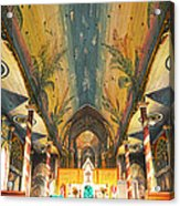 Inside The Painted Church Acrylic Print
