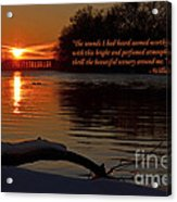 Inspirational Sunset With Quote Acrylic Print