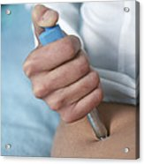 Insulin Injection Acrylic Print