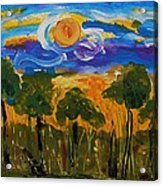 Intense Sky And Landscape Acrylic Print