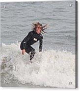 Intense Surfer Acrylic Print