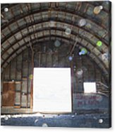 Interior Of Abandoned Farm Equipment Shed Acrylic Print by Paul Edmondson