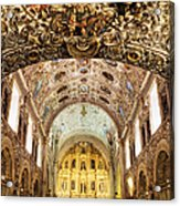 Interior Of The Church Of Santo Domingo Acrylic Print by Jeremy Woodhouse
