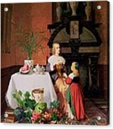 Interior With Figures And Fruit Acrylic Print