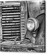 International Truck Black And White Acrylic Print