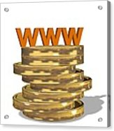 Internet Shopping, Conceptual Image Acrylic Print