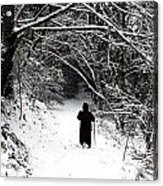 Into The Snowy Forest Acrylic Print