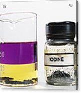 Iodine Properties Acrylic Print