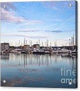 Ipswich Marina Dusk Acrylic Print
