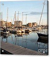 Ipswich Marina Sunset Acrylic Print