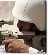 Iraqi Army Sergeant Sights Acrylic Print