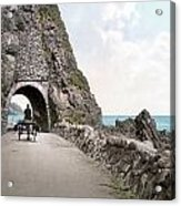 Ireland: Black Cave Tunnel Acrylic Print