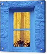 Ireland Cottage Window At Night Acrylic Print