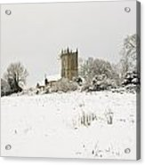 Ireland Winter Landscape With Church Acrylic Print