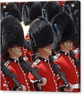 Irish Guards March Pass During The Last Acrylic Print