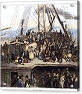 Irish Immigrants, 1850 Acrylic Print