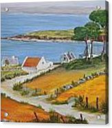 Irish Seaside Village Acrylic Print by Siobhan Lawson