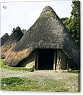 Iron Age Roundhouse Acrylic Print by Sheila Terry
