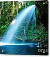 Iron Creek Falls From The Side  Acrylic Print