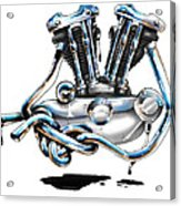 Iron Head Acrylic Print