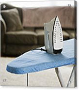 Iron On An Ironing Board Acrylic Print by Ben Sandall