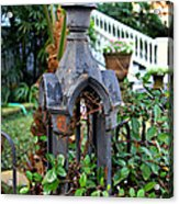 Iron Post Acrylic Print by Perry Webster