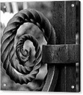Iron Swirls Acrylic Print