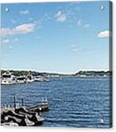 Irondequoit Bay Panorama Acrylic Print