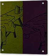 Ironing Diptych 2 Acrylic Print