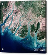 Irrawaddy River Delta Acrylic Print by Nasa