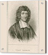 Isaac Barrow, English Mathematician Acrylic Print