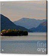 Island And Mountain Acrylic Print