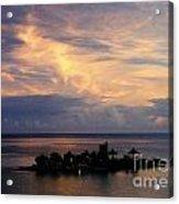 Island At Sunset Acrylic Print
