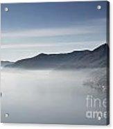 Islands On A Foggy Lake Acrylic Print