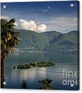 Islands On An Alpine Lake Acrylic Print