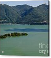Islands On An Alpine Lake With A Shadow Acrylic Print