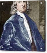 Issac Newton, English Physicist Acrylic Print by Sheila Terry