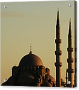 Istanbul Yeni Cami (new Mosque) Acrylic Print by Andrea Cavallini