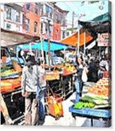 Italian Market Acrylic Print by Andrew Dinh