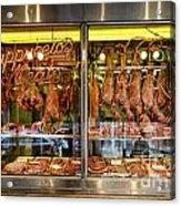 Italian Market Butcher Shop Acrylic Print by John Greim