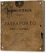Italian Passport. Italian Passport Acrylic Print