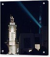 Italian Pavilion Tower At Night Acrylic Print