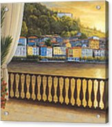 Italian View Acrylic Print by Diane Romanello